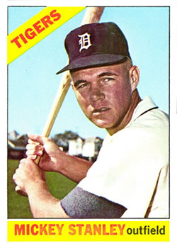 1966 Topps #198 Mickey Stanley RC