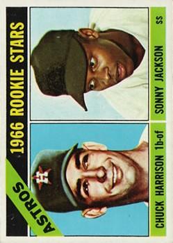 1966 Topps #244 Rookie Stars/Chuck Harrison RC/Sonny Jackson
