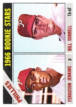1966 Topps #254 Rookie Stars/Fergie Jenkins RC/Bill Sorrell RC