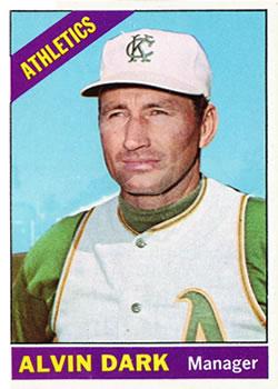 1966 Topps #433 Alvin Dark MG