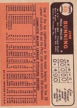 1966 Topps #435 Jim Bunning back image