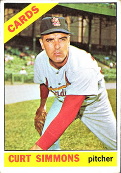1966 Topps #489 Curt Simmons