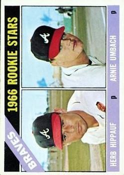 1966 Topps #518 Rookie Stars/Herb Hippauf RC/Arnie Umbach RC