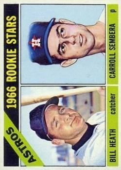 1966 Topps #539 Rookie Stars/Bill Heath RC/Carroll Sembera RC