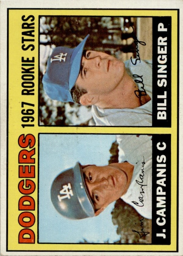 1967 Topps #12 Rookie Stars/Jim Campanis RC/Bill Singer