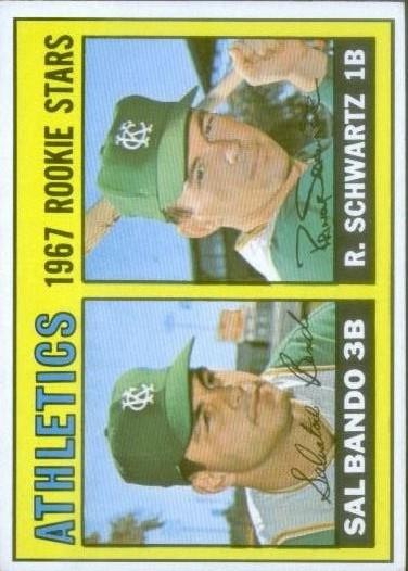 1967 Topps #33 Rookie Stars/Sal Bando RC/Randy Schwartz RC