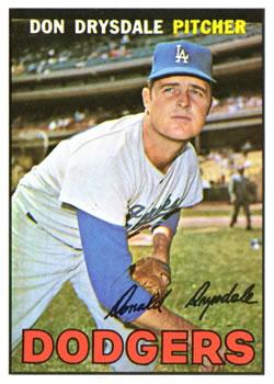 1967 Topps #55 Don Drysdale