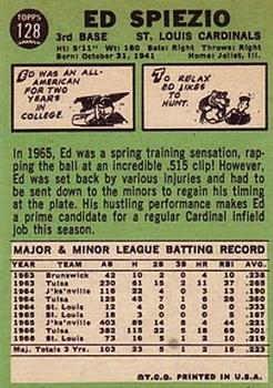 1967 Topps #128A Ed Spiezio back image