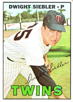1967 Topps #164 Dwight Siebler UER/Last line of stats/shows 1960 Minnesota