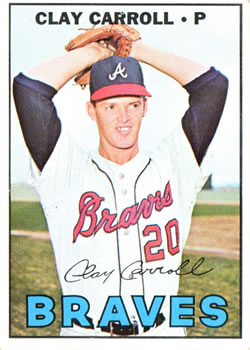 1967 Topps #219 Clay Carroll