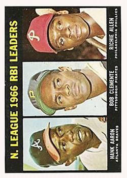 1967 Topps #242 NL RBI Leaders/Hank Aaron/Bob Clemente/Richie Allen