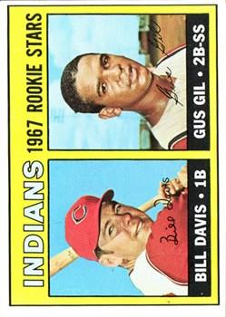 1967 Topps #253 Rookie Stars/Bill Davis/Gus Gil RC
