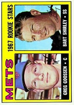 1967 Topps #287 Rookie Stars/Greg Goosen RC/Bart Shirley
