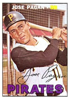 1967 Topps #322 Jose Pagan