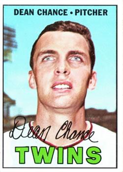 1967 Topps #380 Dean Chance DP