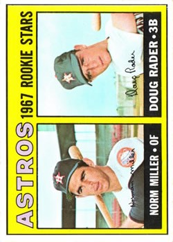 1967 Topps #412 Rookie Stars/Norm Miller RC/Doug Rader RC