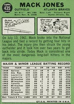 1967 Topps #435 Mack Jones DP back image