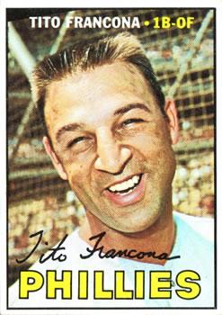 1967 Topps #443 Tito Francona DP