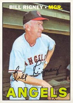 1967 Topps #494 Bill Rigney MG