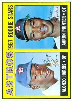 1967 Topps #564 Rookie Stars/Alonzo Harris RC/Aaron Pointer RC DP