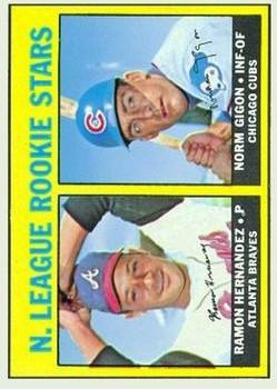 1967 Topps #576 Rookie Stars/Ramon Hernandez RC/Norm Gigon RC