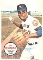 1967 Topps Posters Inserts #25 Joe Morgan