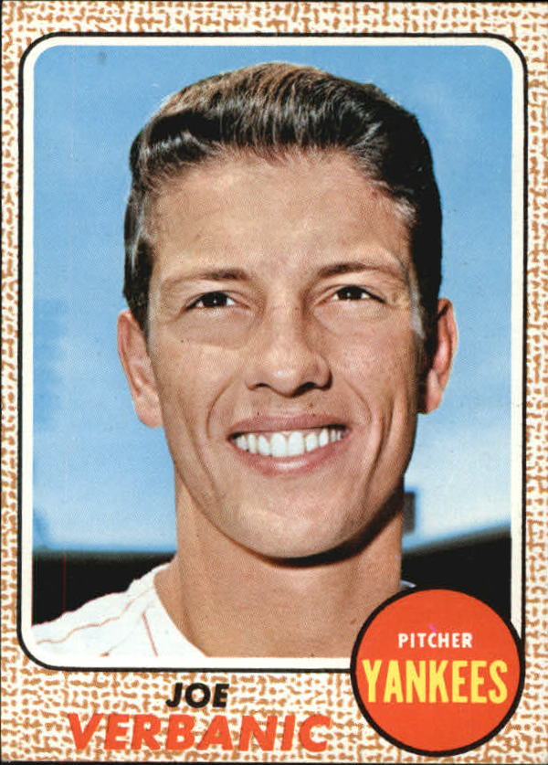 1968 Topps #29 Joe Verbanic