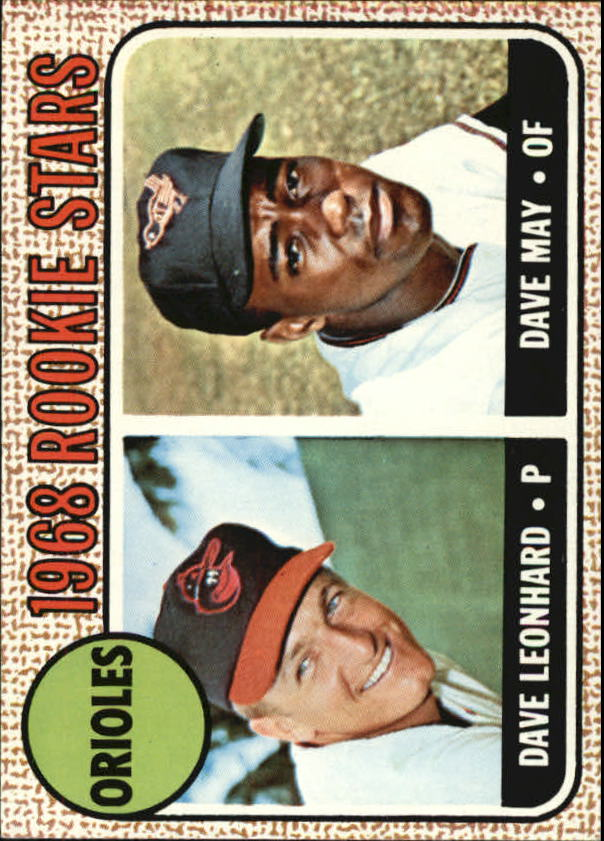 1968 Topps #56 Rookie Stars/Dave Leonhard RC/Dave May RC