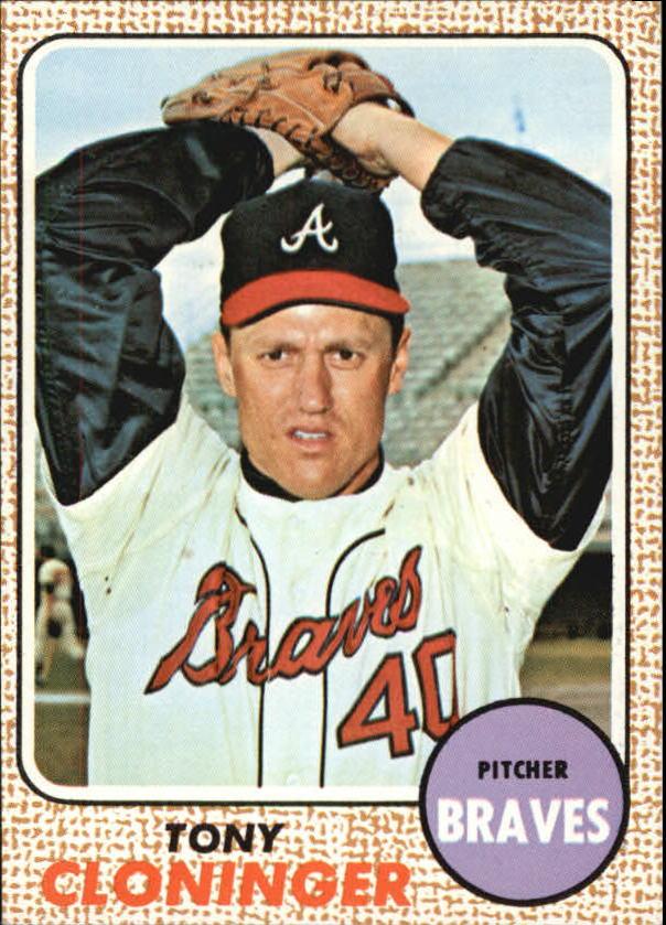 1968 Topps #93 Tony Cloninger