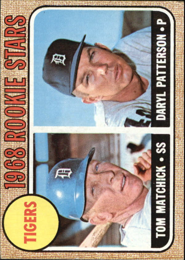 1968 Topps #113 Rookie Stars/Tom Matchick/Daryl Patterson RC