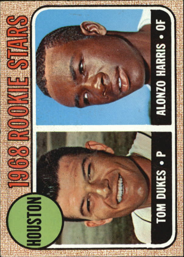 1968 Topps #128 Rookie Stars/Tom Dukes RC/Alonzo Harris