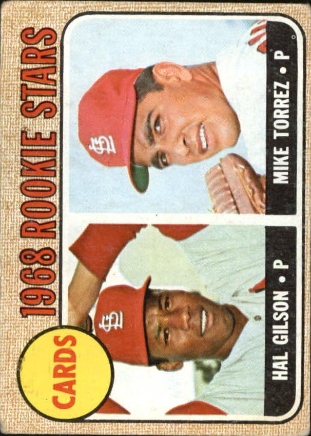 1968 Topps #162 Rookie Stars/Hal Gilson RC/Mike Torrez RC