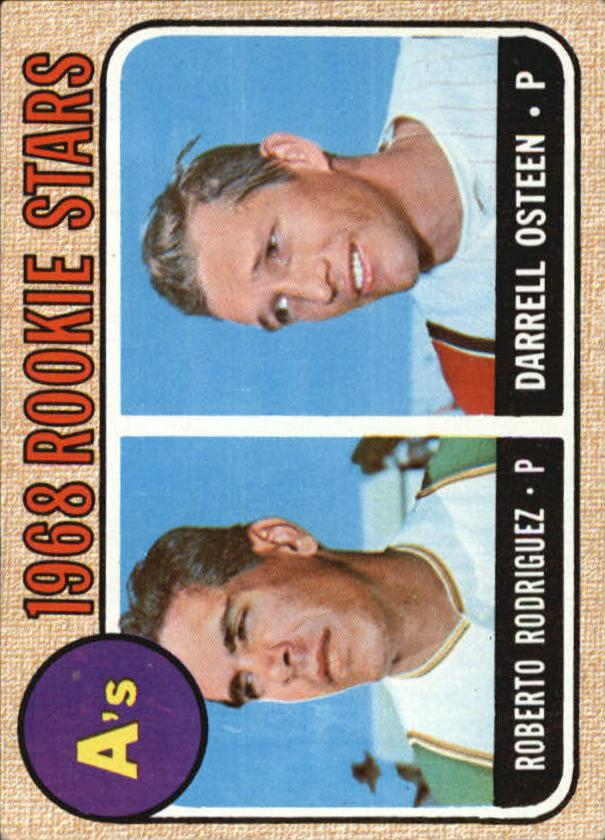 1968 Topps #199 Rookie Stars/Roberto Rodriquez RC/Darrell Osteen