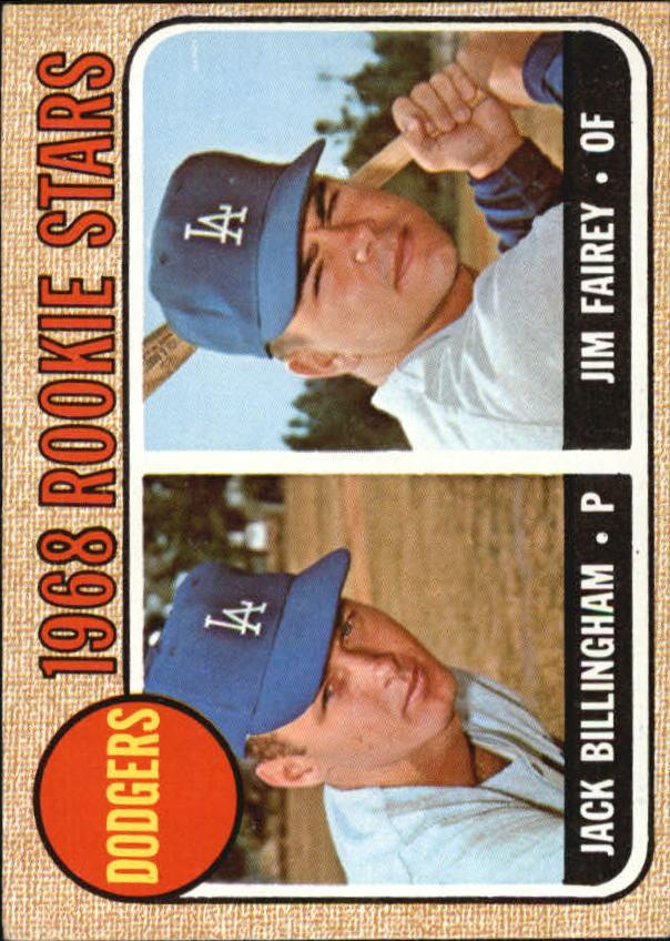 1968 Topps #228 Rookie Stars/Jack Billingham RC/Jim Fairey RC