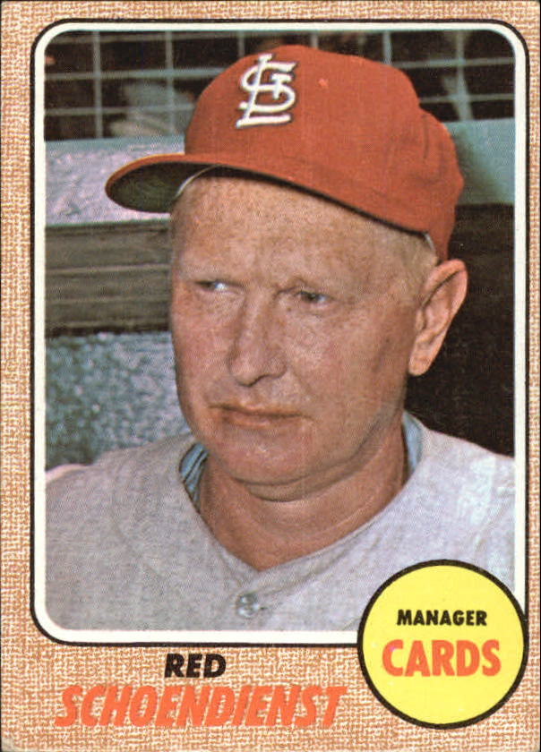 1968 Topps #294 Red Schoendienst MG