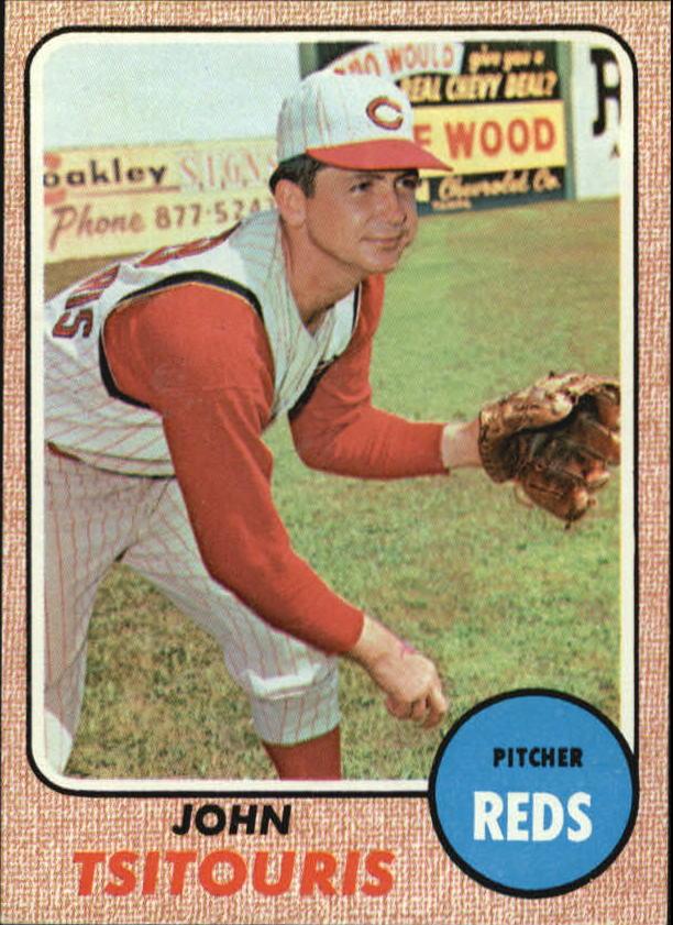 1968 Topps #523 John Tsitouris