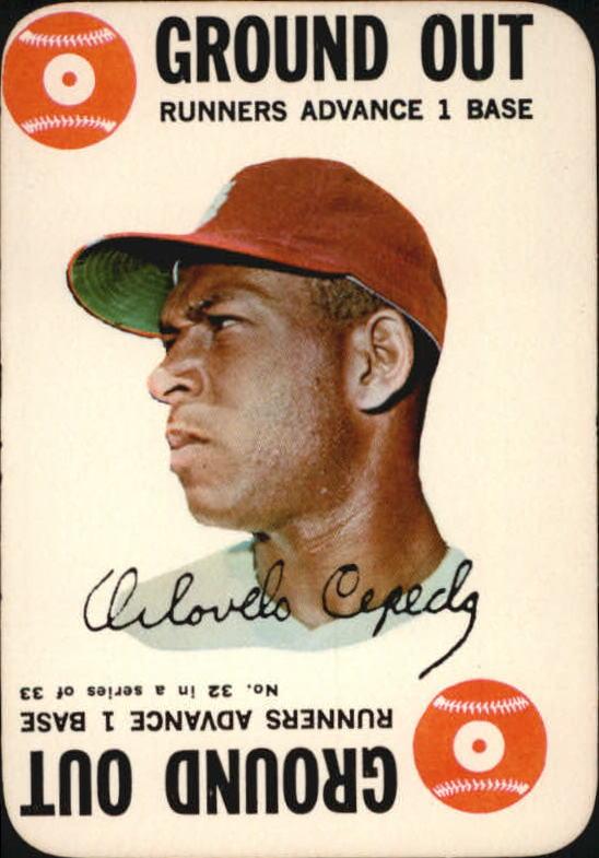 1968 Topps Game #32 Orlando Cepeda