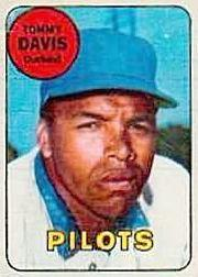 1969 Topps Decals #8 Tommy Davis