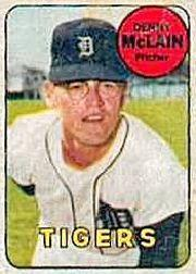 1969 Topps Decals #28 Denny McLain