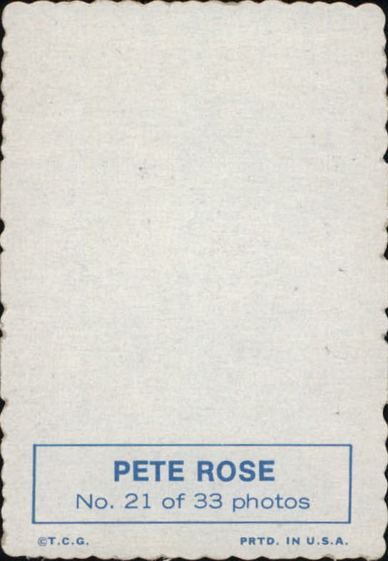 1969 Topps Deckle Edge #21 Pete Rose back image