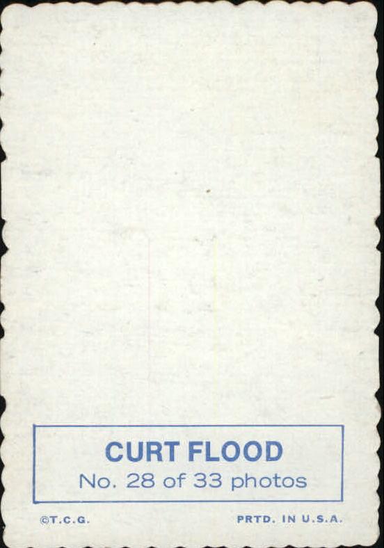 1969 Topps Deckle Edge #28 Curt Flood back image
