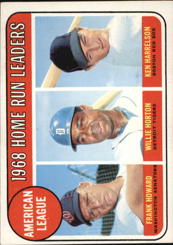 1969 Topps #5 AL Home Run Leaders/Frank Howard/Willie Horton/Ken Harrelson