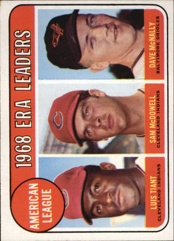 1969 Topps #7 AL ERA Leaders/Luis Tiant/Sam McDowell/Dave McNally