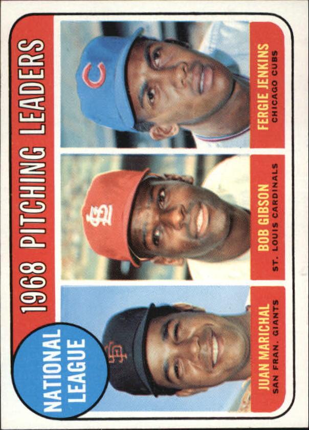 1969 Topps #10 NL Pitching Leaders/Juan Marichal/Bob Gibson/Fergie Jenkins