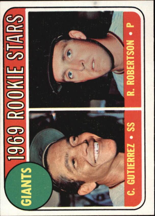 1969 Topps #16 Rookie Stars/Cesar Gutierrez RC/Rich Robertson RC