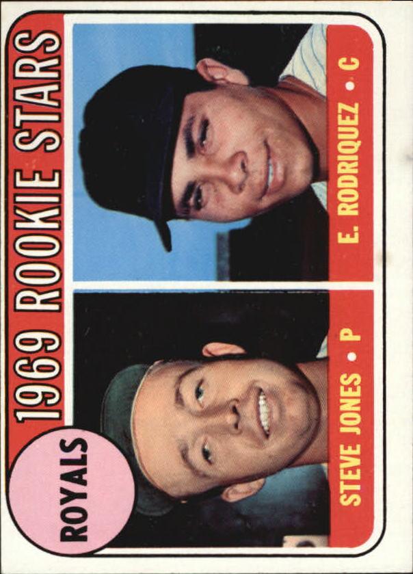 1969 Topps #49A Rookie Stars/Steve Jones/E. Rodriquez ERR