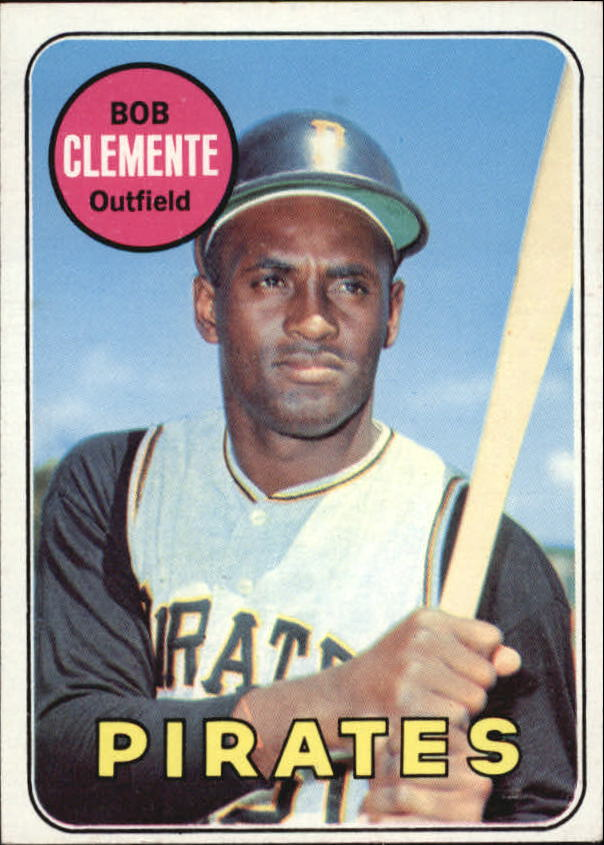 1969 Topps #50 Roberto Clemente/UER Bats Right listed twice
