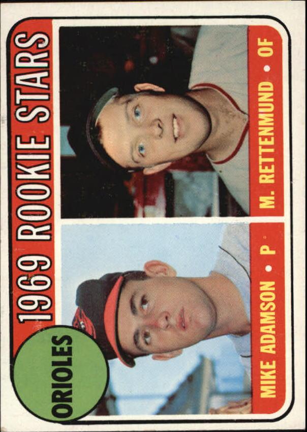 1969 Topps #66 Rookie Stars/Mike Adamson RC/Merv Rettenmund RC