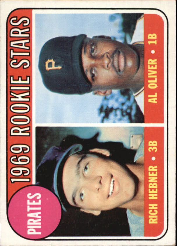 1969 Topps #82 Rookie Stars/Rich Hebner RC/Al Oliver RC
