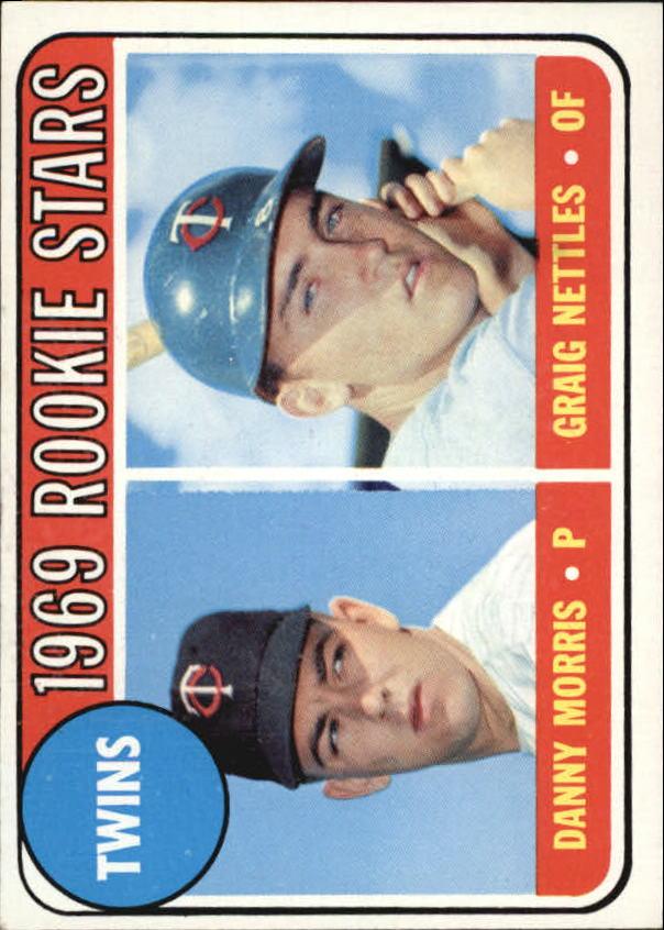 1969 Topps #99B Rookie Stars/Danny Morris/Graig Nettles/Errant loop in/upper left corner